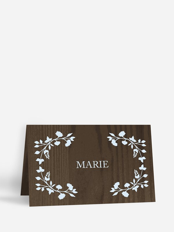 Marque-place mariage Bois chic
