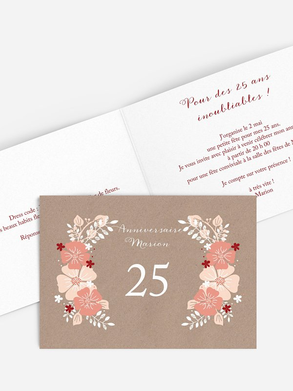 invitation anniversaire Champêtre printanier
