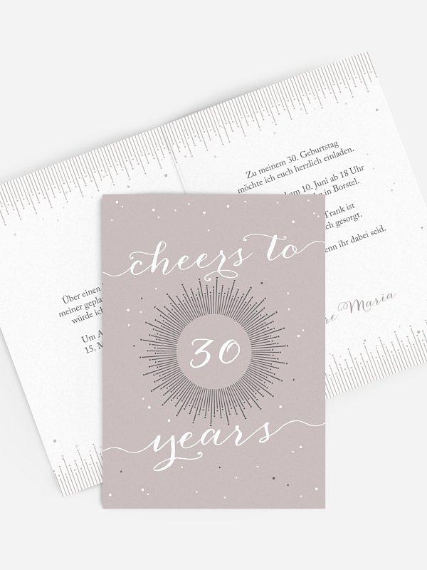 Einladung 30. Geburtstag Sparkling