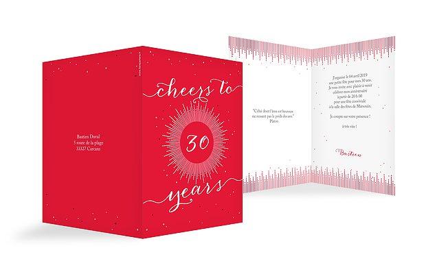 invitation anniversaire 30 Cheers