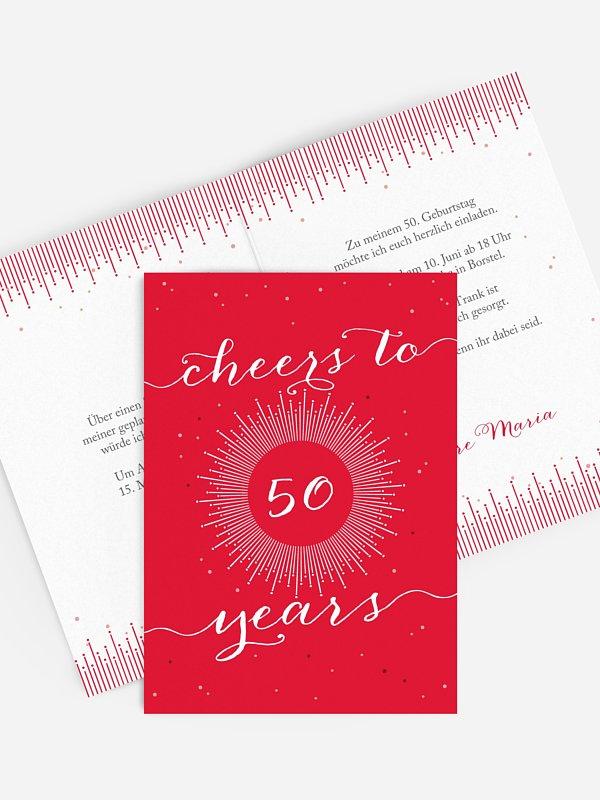 Einladung 50. Geburtstag Sparkling