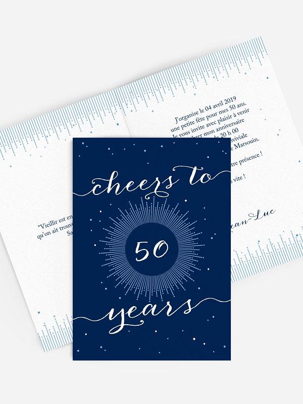 invitation anniversaire 50 Cheers