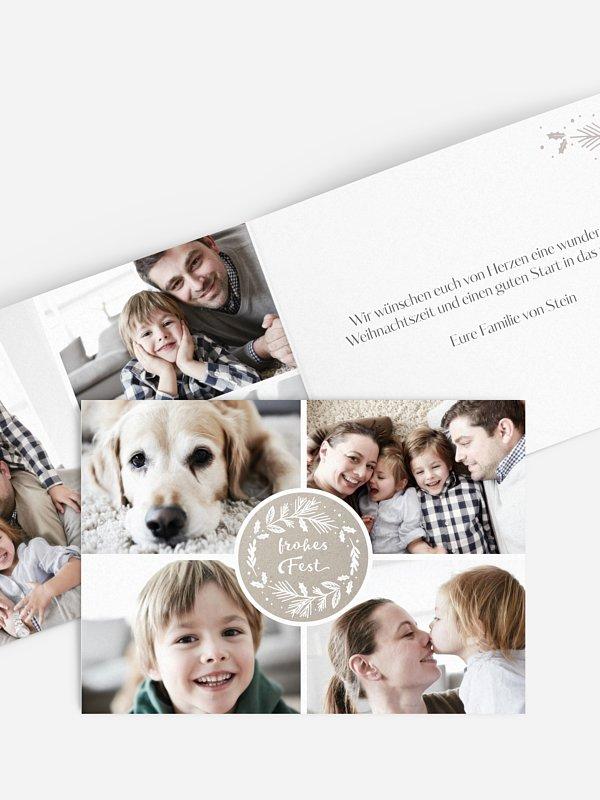 Weihnachtskarte Christmas Button