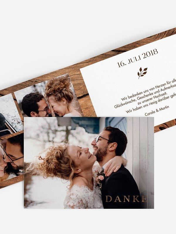 Dankeskarte Hochzeit Auf Holz