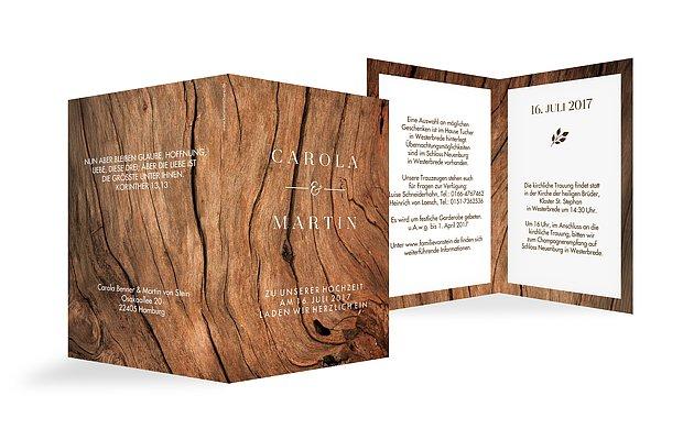 Menukarte Hochzeit Auf Holz