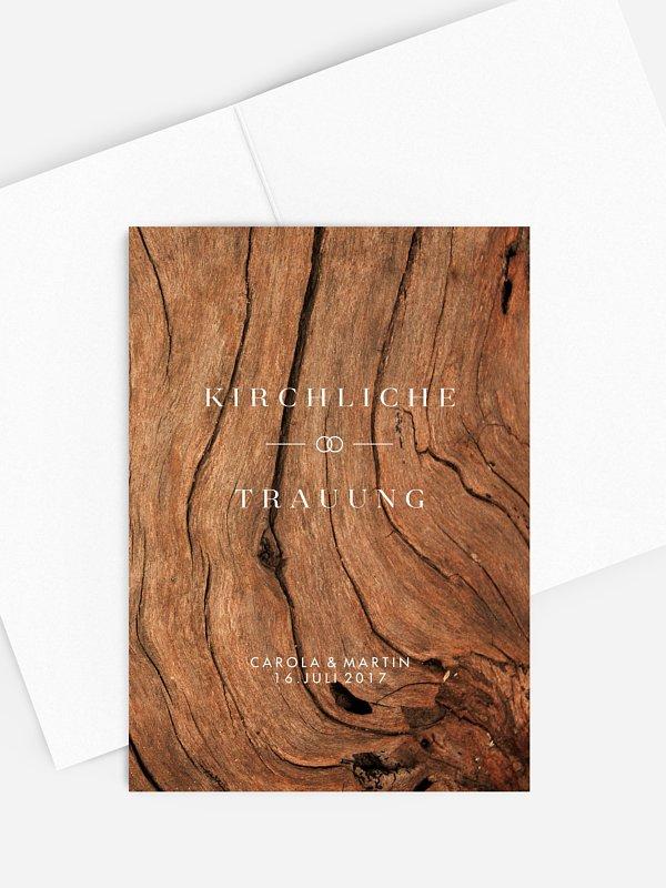 Kirchenheft Hochzeit Auf Holz