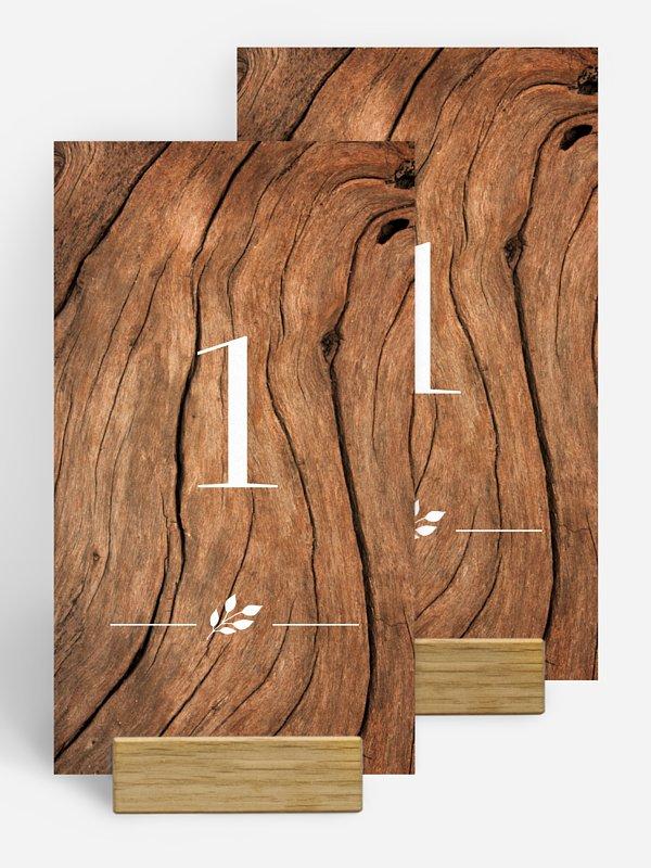 Tischnummer Auf Holz