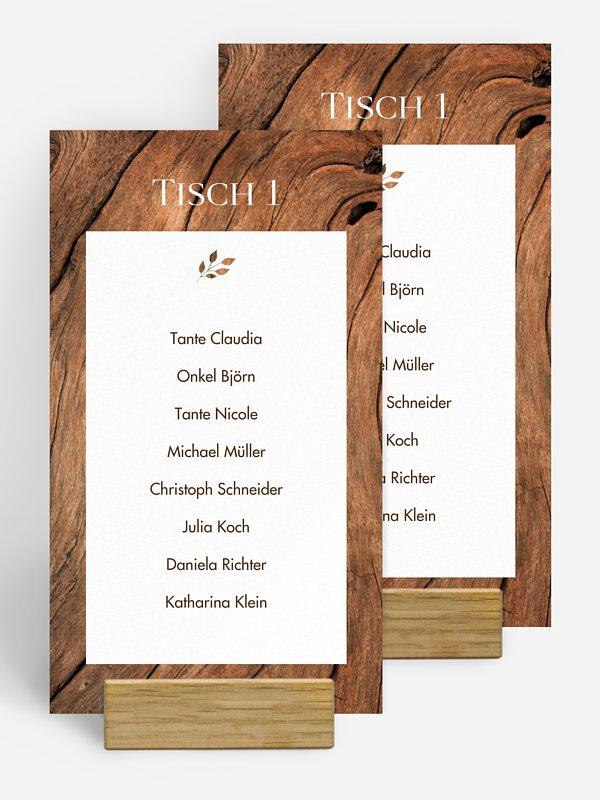 Gruppentischkarte Auf Holz