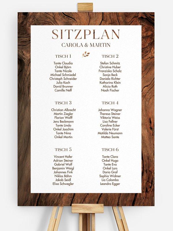 Sitzplan Plakat Auf Holz