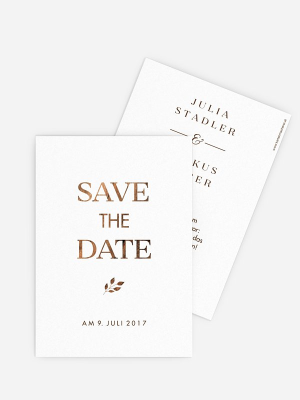 Save-the-Date Karte Auf Holz