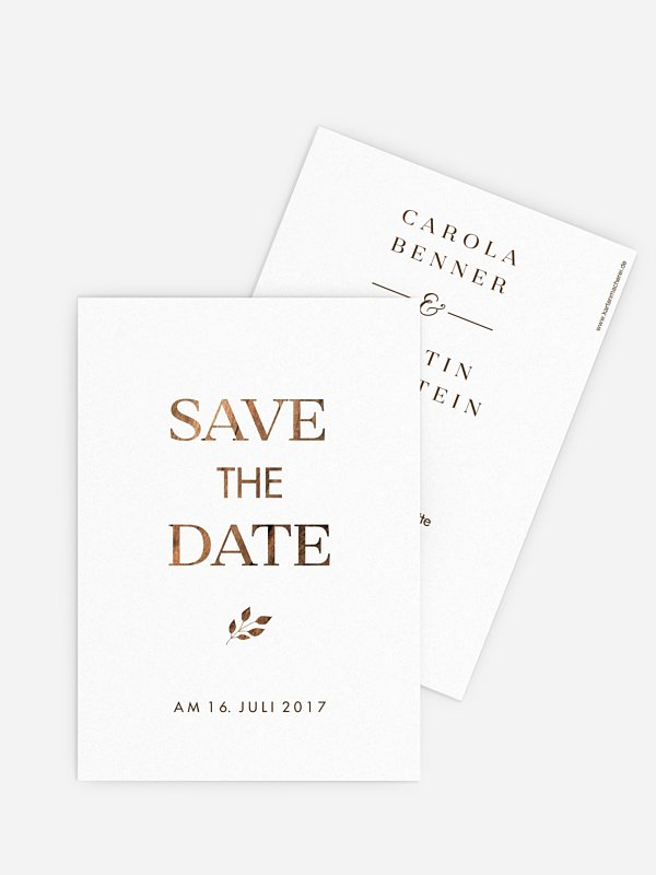 Save-the-Date Karte Auf Holz