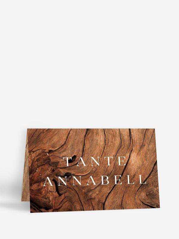 Tischkarte Hochzeit Auf Holz