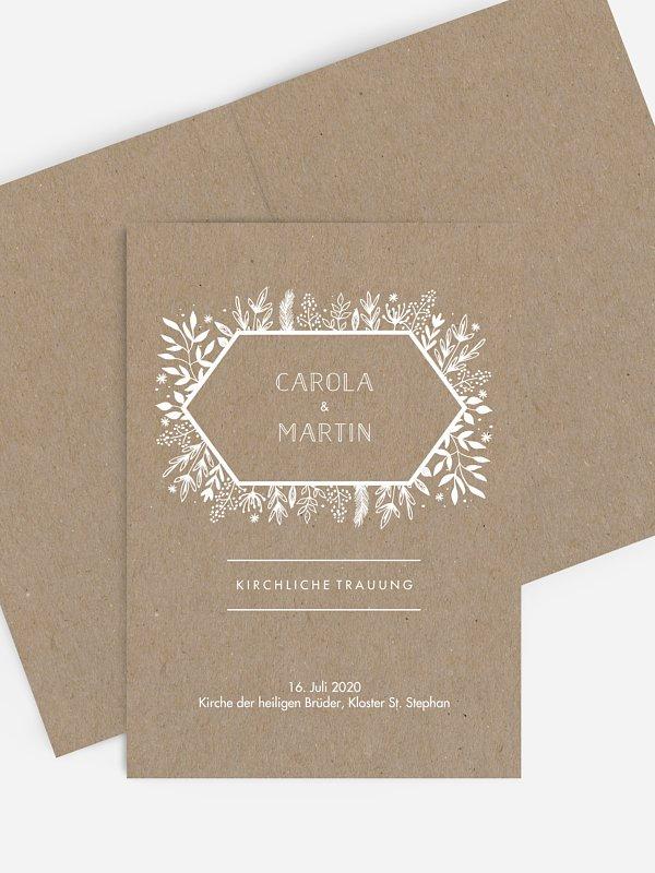 Kirchenheft Hochzeit Les Floralies Kraftpapier