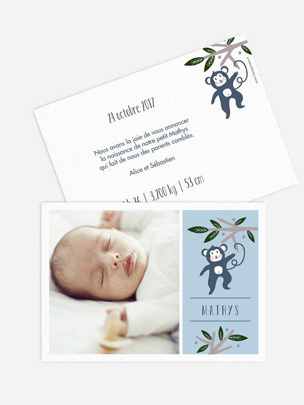 Faire-part naissance Petit singe