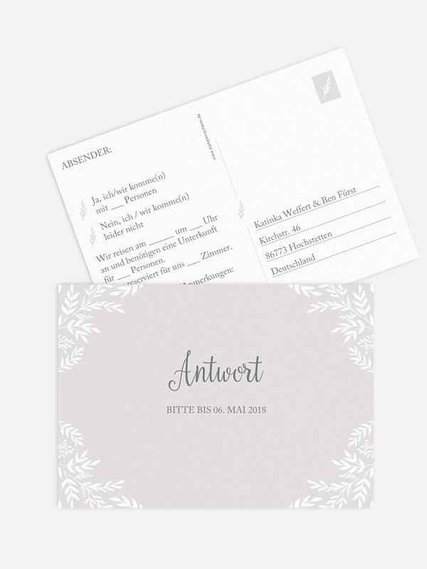 Antwortkarte Hochzeit Leaves of Love