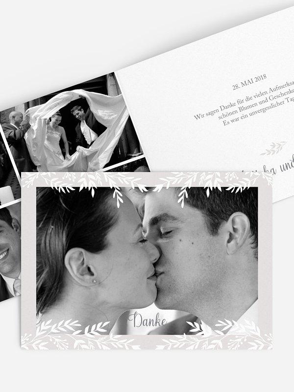 Dankeskarte Hochzeit Leaves of Love