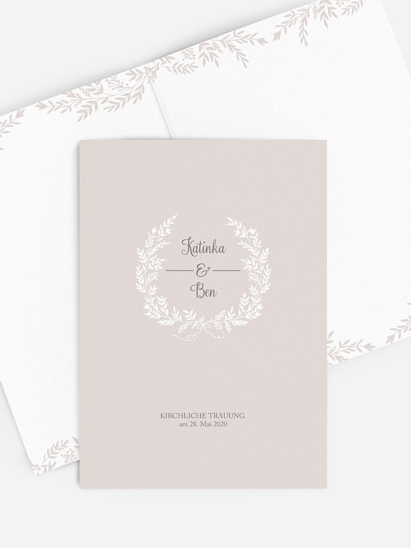 Kirchenheft Hochzeit Leaves of Love