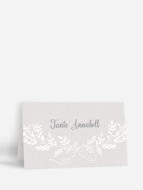 Tischkarte Hochzeit Leaves of Love