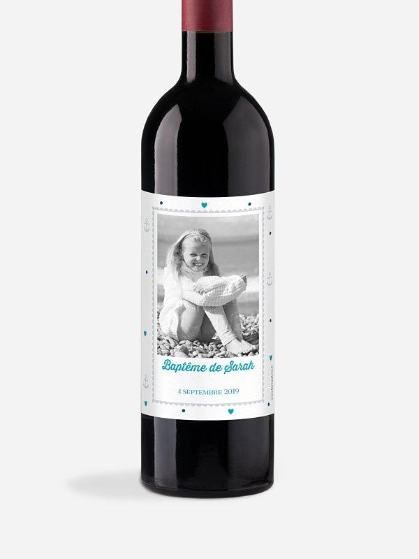 Étiquette pour bouteille Petite ancre