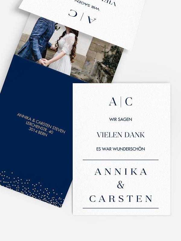 Dankeskarte Hochzeit Festive Letter