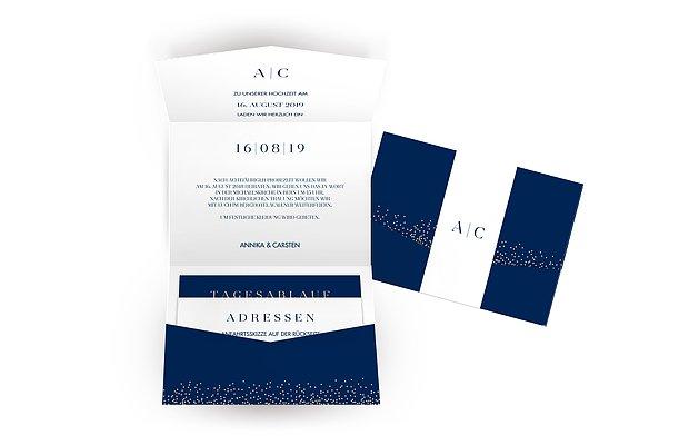 Hochzeitseinladung Festive Letter