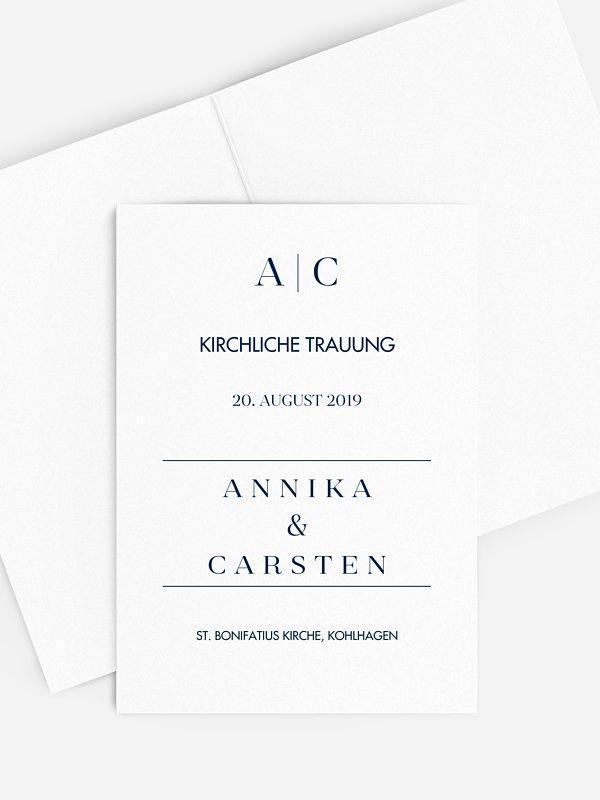 Kirchenheft Hochzeit Festive Letter