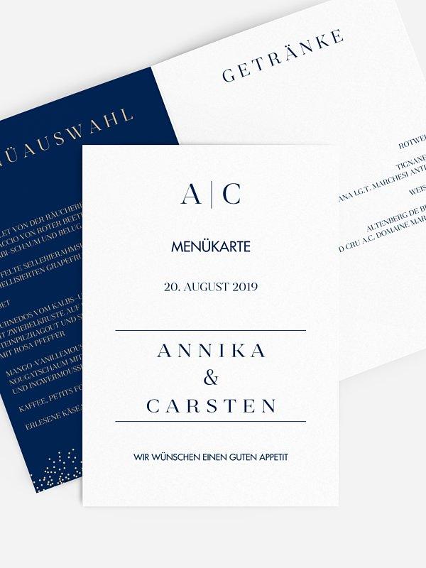 Menükarte Hochzeit Festive Letter