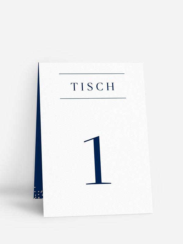 Tischnummer Festive Letter