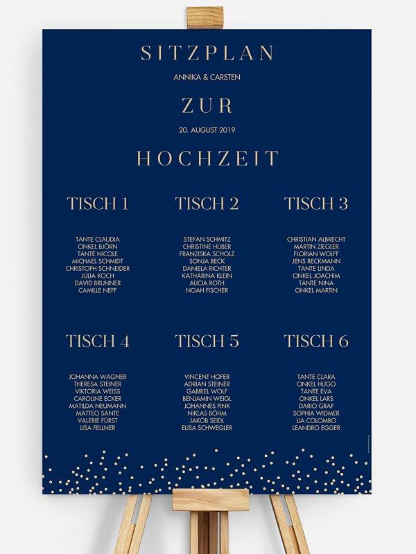 Sitzplan Plakat Festive Letter