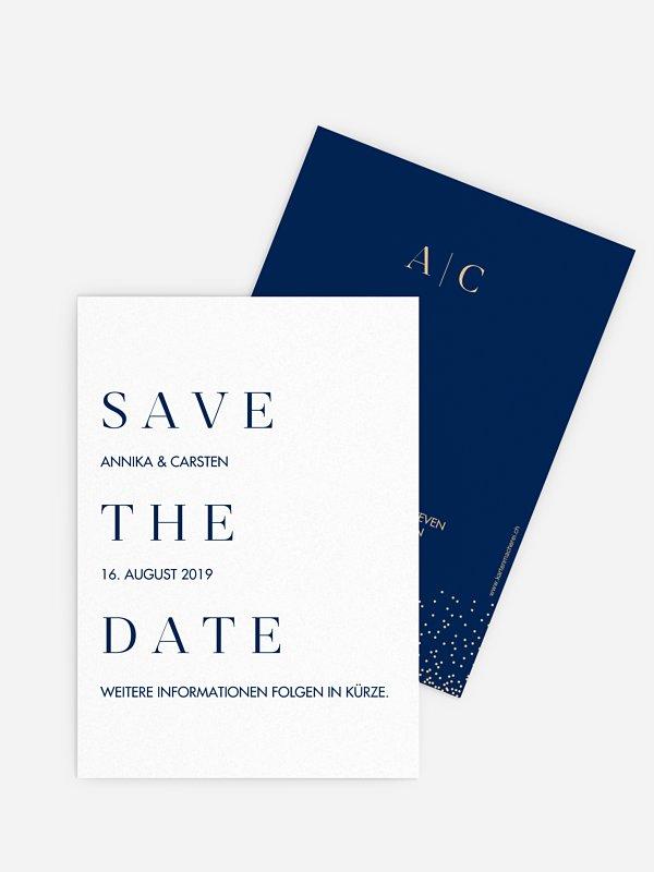 Save-the-Date Karte Festive Letter
