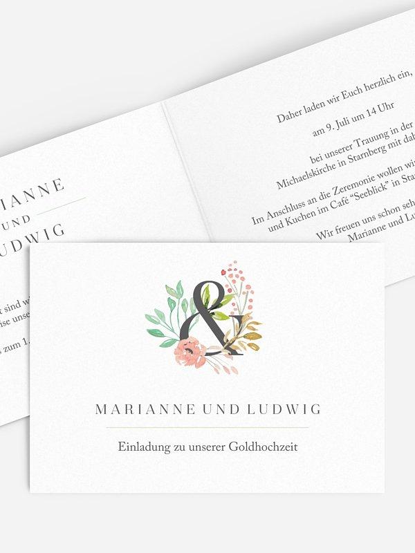 Einladung zur Goldenen Hochzeit Florentina