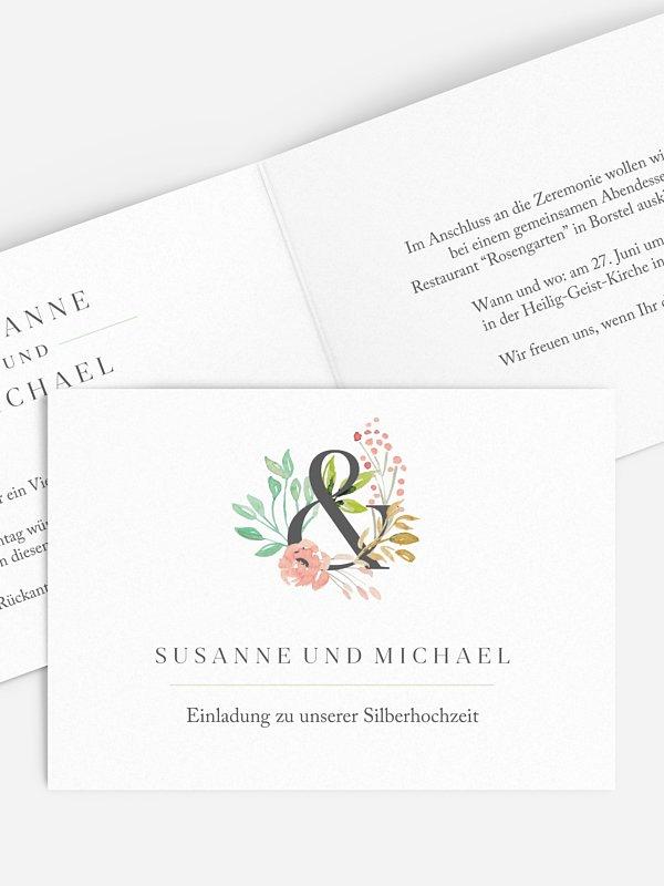 Einladung zur Silberhochzeit Florentina
