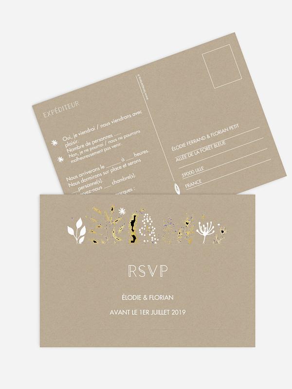 Carton réponse Les Floralies Premium