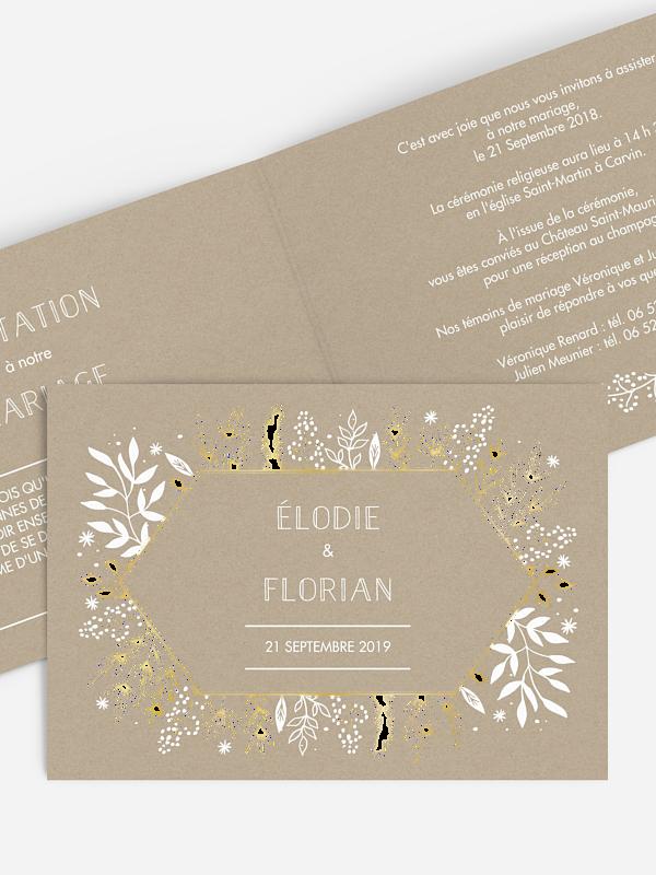 Faire-part mariage Les Floralies Premium