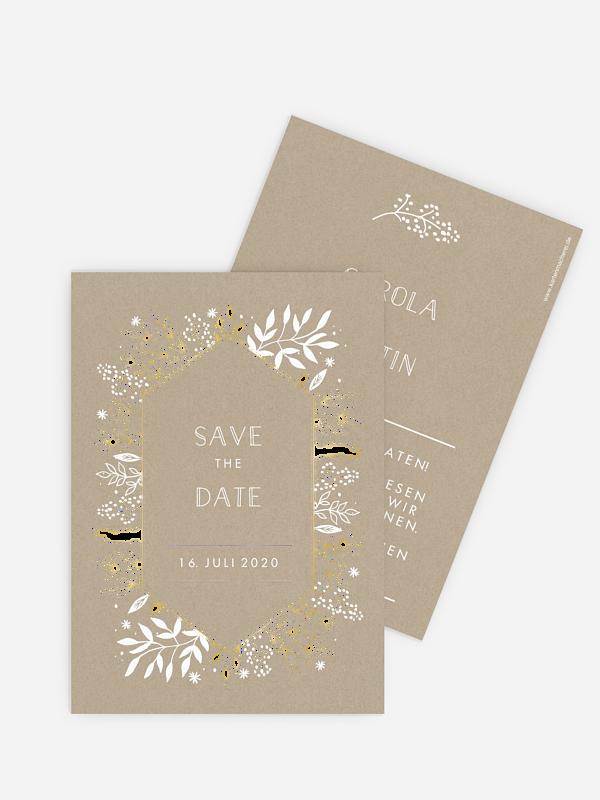 Save-the-Date Karte Les Floralies Premium