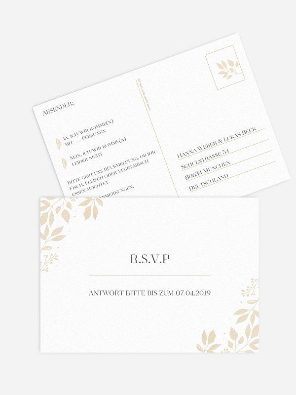 Antwortkarte Hochzeit Versailles