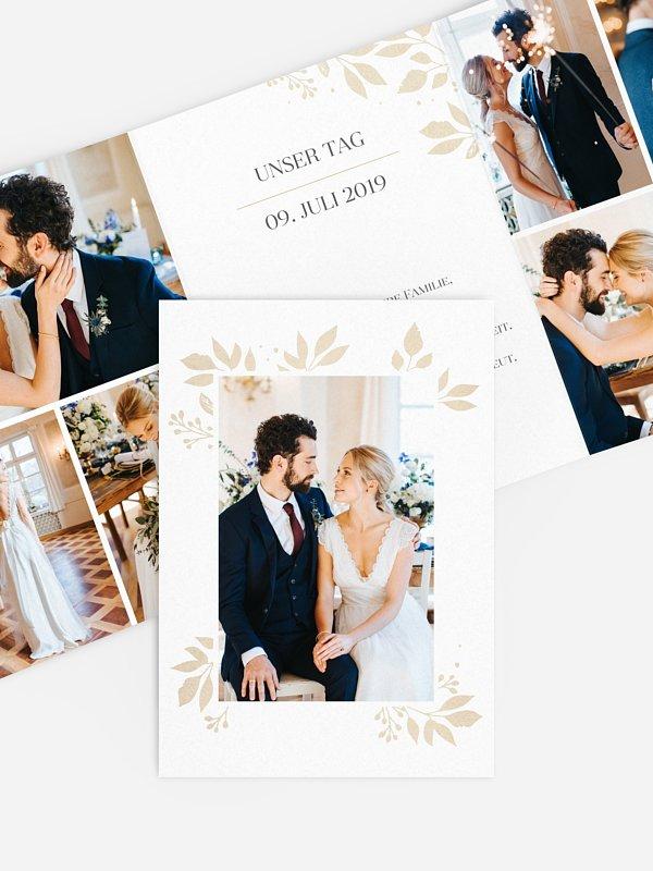 Dankeskarte Hochzeit Versailles