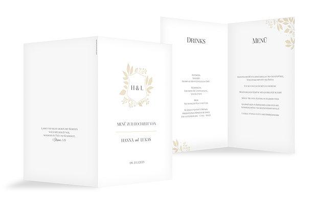 Menükarte Hochzeit Versailles