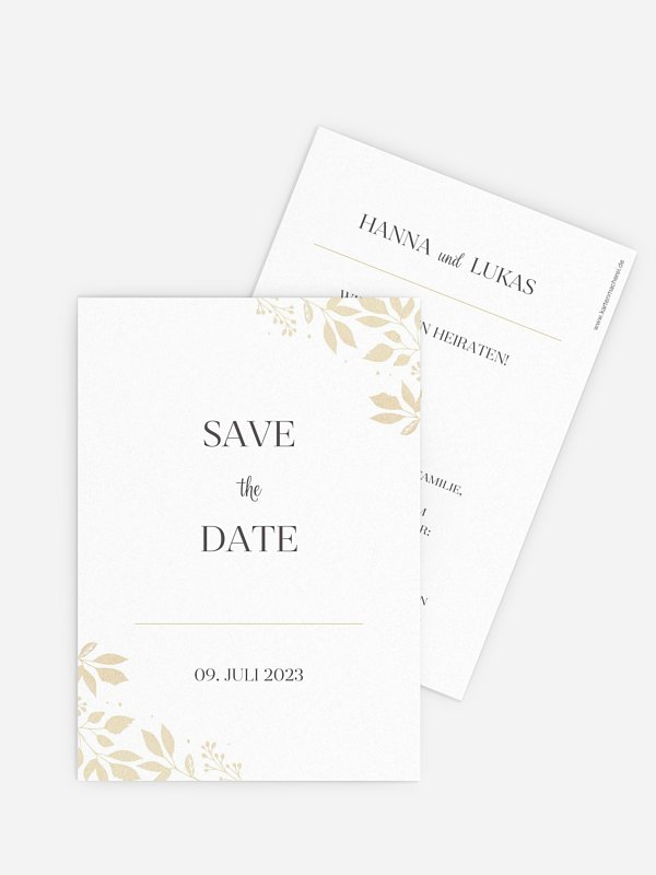 Save-the-Date Karte Versailles