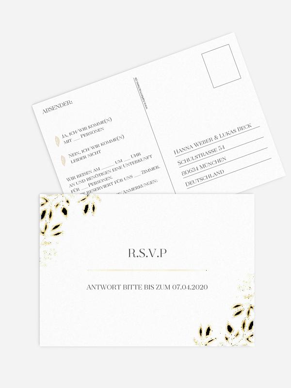 Antwortkarte Hochzeit Versailles Premium