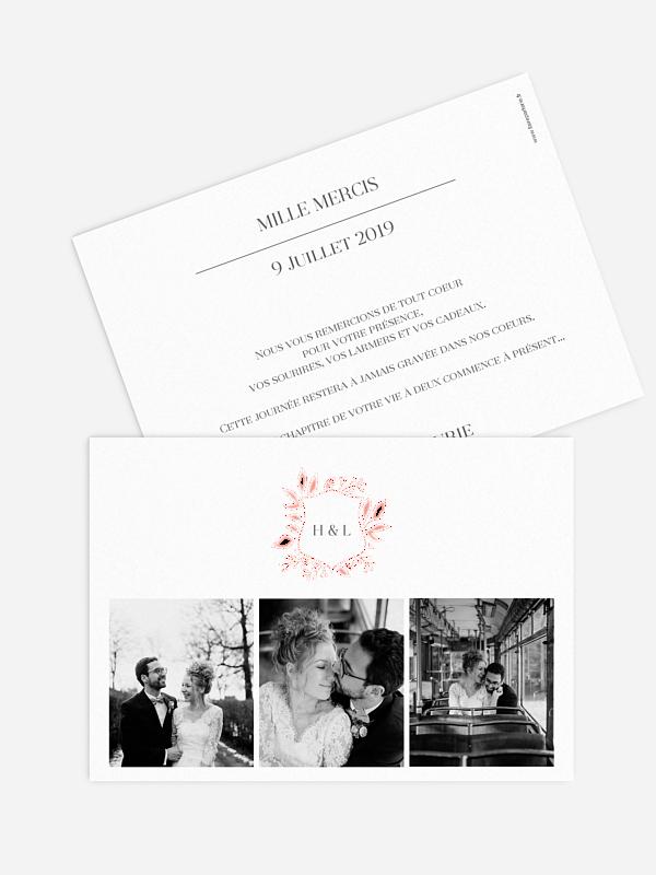 Carte de remerciements Versailles - dorure