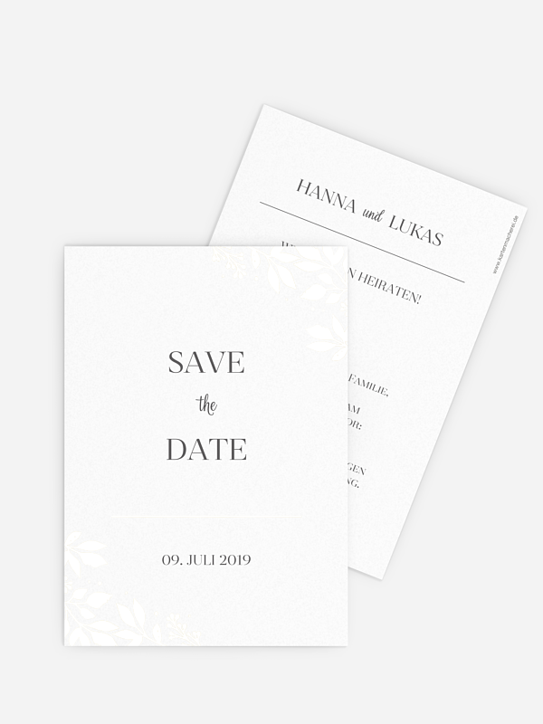Save-the-Date Karte Versailles Premium