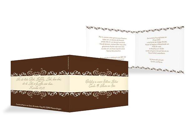 Einladung silberhochzeit klassik - Silberhochzeit einladung ...