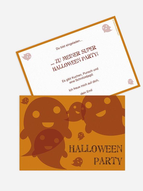 Partyeinladung Geister