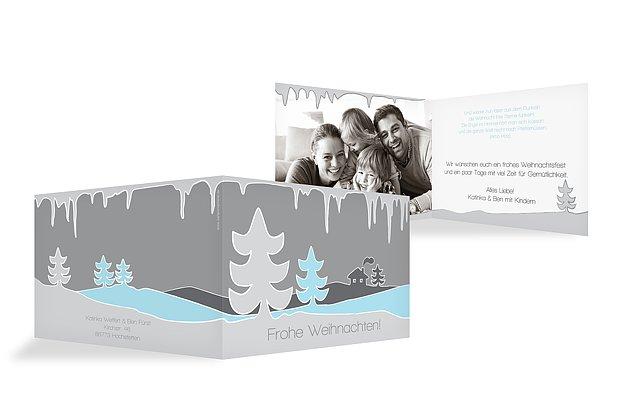 """Weihnachtskarte """"Eiszapfen"""""""