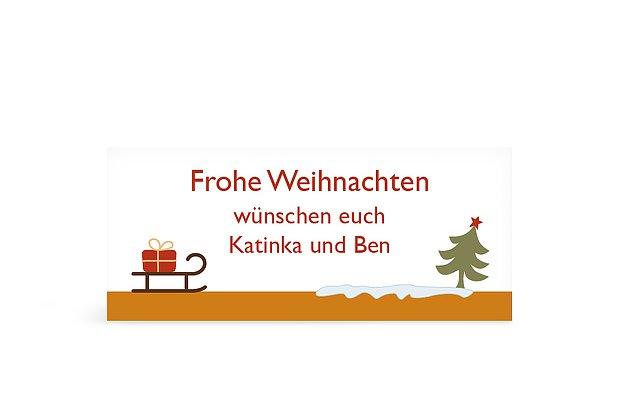 Geschenkaufkleber Weihnachten Bunte Weihnacht