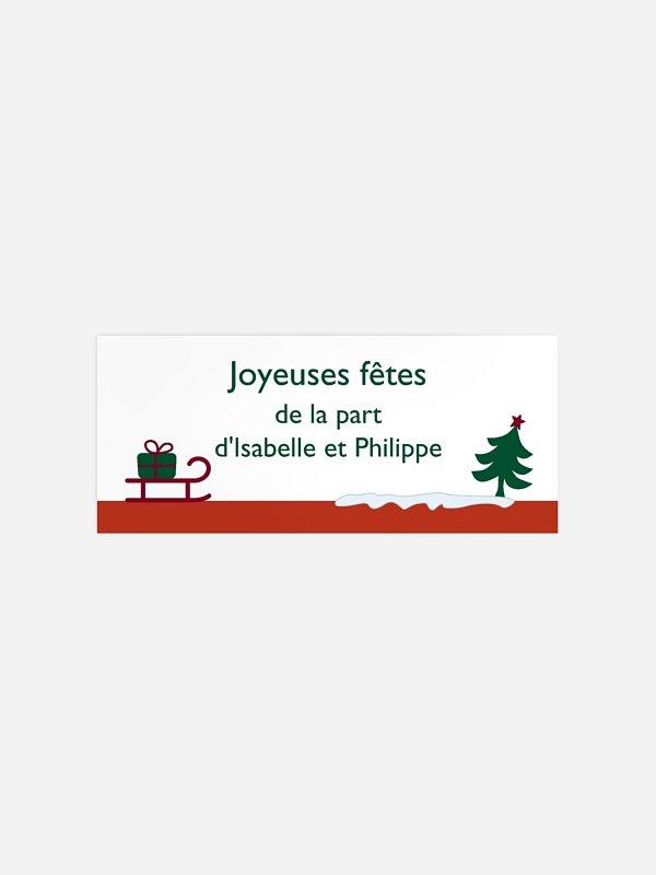 Étiquette cadeau Noël Noël coloré
