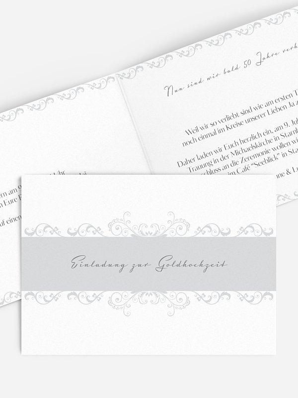 Einladung zur Goldenen Hochzeit Klassik