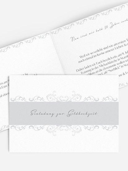 Einladungskarten Für Die Goldene Hochzeit Edel Individuell