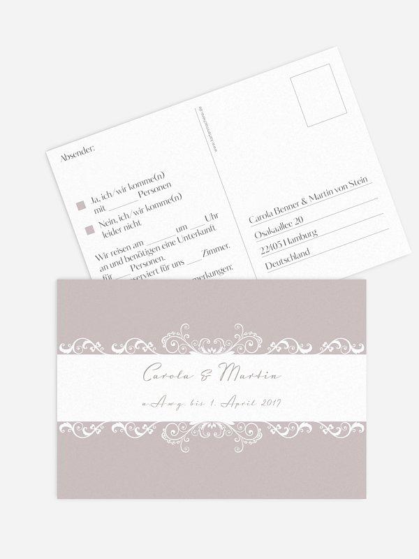 Antwortkarte Hochzeit Klassik
